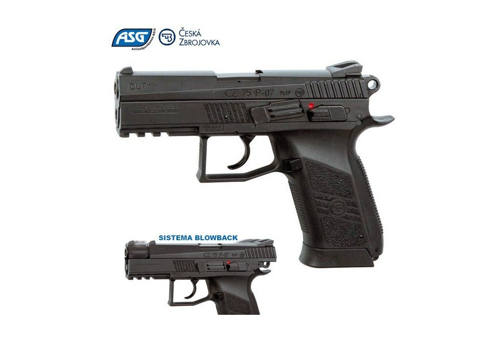 AIR PISTOL ASG CZ 75 P07 DUTY BLOWBACK