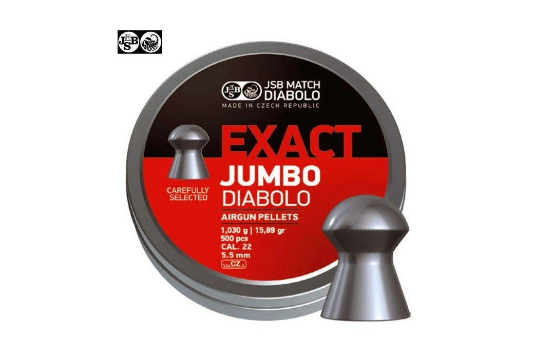 MUNITIONS JSB EXACT JUMBO ORIGINAL 250pcs 5.52mm (.22)