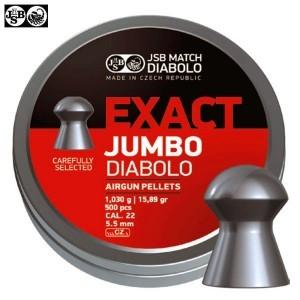 MUNITIONS JSB EXACT JUMBO ORIGINAL 250pcs 5.52mm (.22)