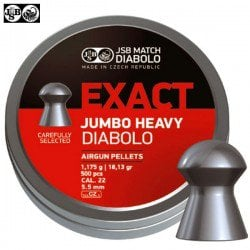 MUNITIONS JSB EXACT HEAVY JUMBO ORIGINAL 500pcs 5.52mm (.22)