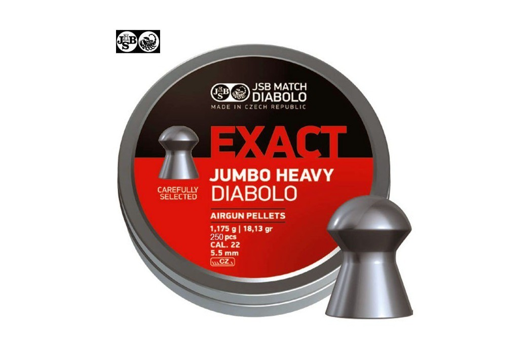 BALINES JSB EXACT HEAVY JUMBO ORIGINAL 250pcs 5.52mm (.22)