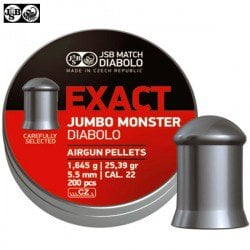 MUNITIONS JSB EXACT MONSTER JUMBO ORIGINAL 200pcs 5.52mm (.22)