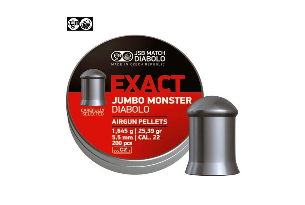 Air gun pellets JSB EXACT MONSTER JUMBO ORIGINAL 200pcs 5.52mm (.22)