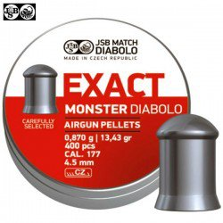 MUNITIONS JSB EXACT MONSTER ORIGINAL 400pcs 4.52mm (.177)