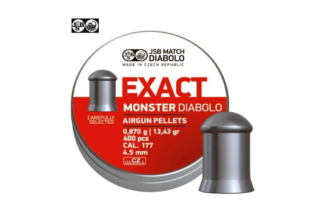 MUNITIONS JSB EXACT MONSTER ORIGINAL 400pcs 4.52mm (.177)