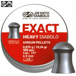 BALINES JSB EXACT HEAVY ORIGINAL 500pcs 4.52mm (.177)