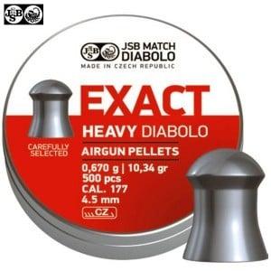 BALINES JSB EXACT HEAVY ORIGINAL 500pcs 4.52mm (.177)