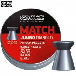 BALINES JSB MATCH DIABOLO ORIGINAL 5.50mm (.22) 300PCS