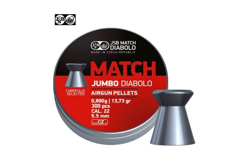 MUNITIONS JSB MATCH JUMBO DIABOLO ORIGINAL 5.50mm (.22) 300PCS