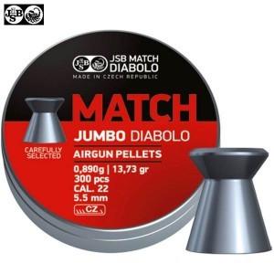 MUNITIONS JSB MATCH JUMBO DIABOLO ORIGINAL 5.50mm (.22) 300PCS