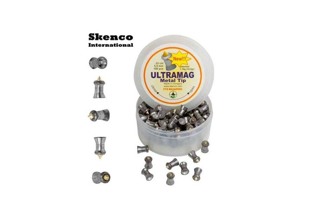 BALINES SKENCO ULTRAMAG 100PCS 5.50mm (.22)