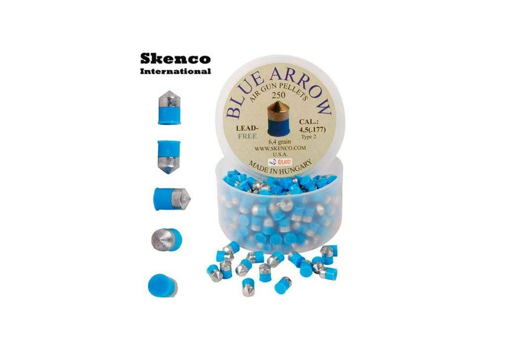 BALINES SKENCO BLUE ARROW 250PCS 4.50mm (.177)