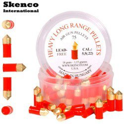 Air gun pellets SKENCO HEAVY LONG RANGE 75PCS 5.50mm (.22)
