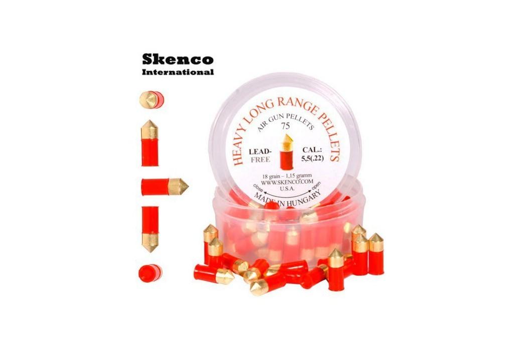 Air gun pellets SKENCO HEAVY LONG RANGE 75PCS 5.50mm (.22)