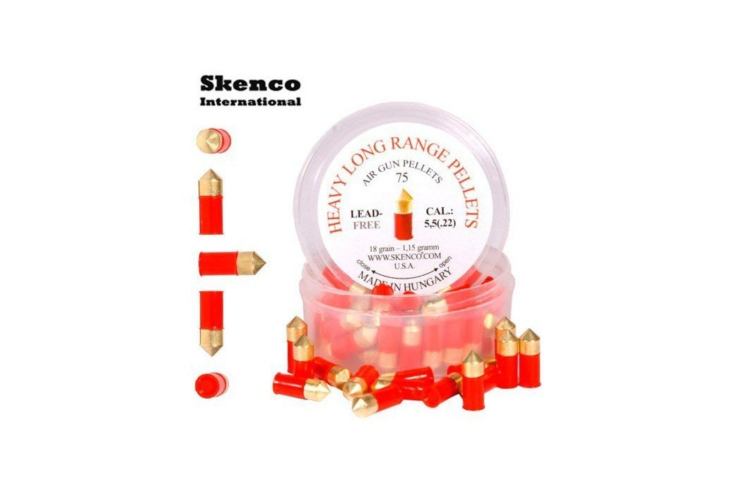 BALINES SKENCO HEAVY LONG RANGE 75PCS 5.50mm (.22)