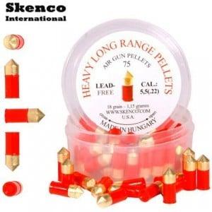 BALINES SKENCO HEAVY LONG RANGE 75PCS 5.50mm (.22)