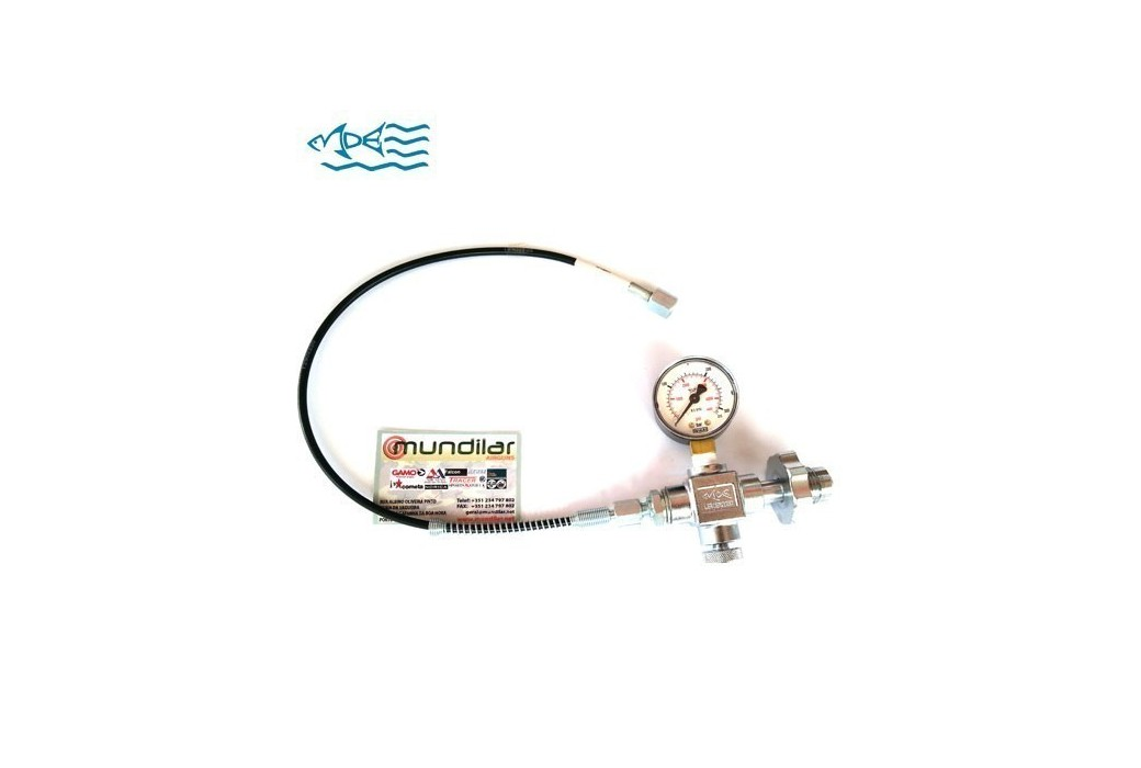 MDE DIN GAUGE AND HOSE KIT 200/300BAR 1/8 BSP
