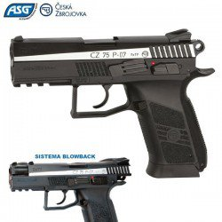 AIR PISTOL ASG CZ 75 P07 DUTY BLOWBACK DUAL TONE