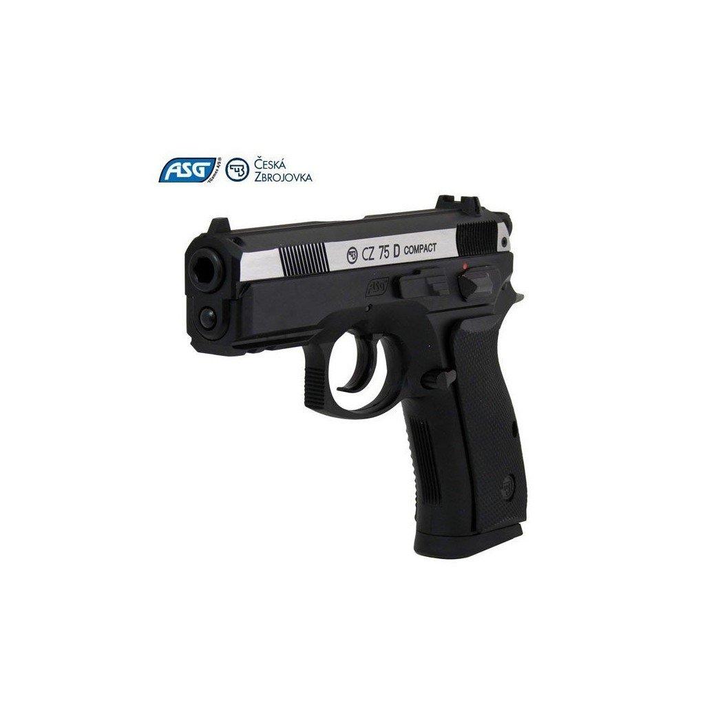 PISTOLA ASG CZ 75 COMPACT DUAL TONE|Pistolas | Revolveres