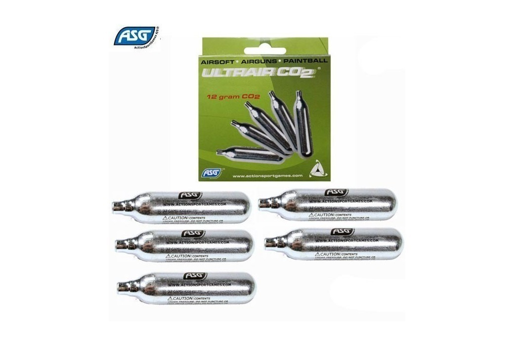 ASG CO2 12G CARTRIDGES PACK 5
