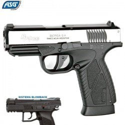 AIR PISTOL ASG BERSA BP9CC BLOWBACK DUAL TONE