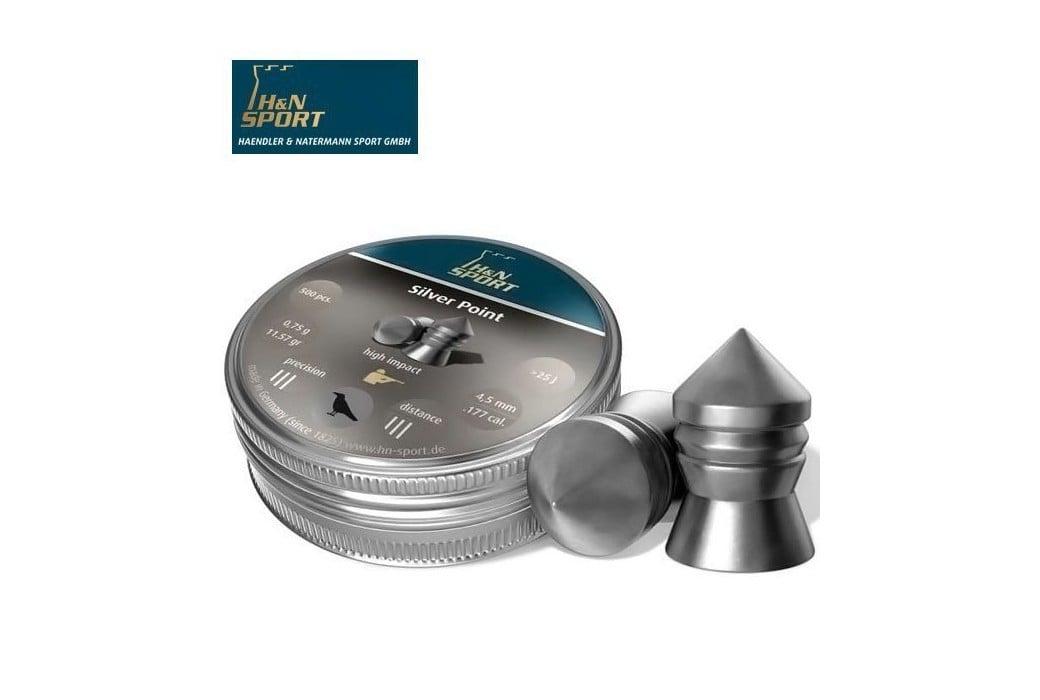 MUNITIONS H & N SILVER POINT 6.35mm (.25) 200PCS