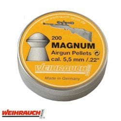 MUNITIONS WEIHRAUCH MAGNUM 5.50mm (.22) 200PCS