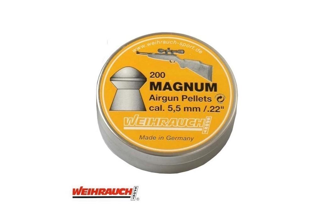 MUNITIONS WEIHRAUCH MAGNUM 5.50mm (.22) 200PCS