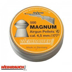 MUNITIONS WEIHRAUCH MAGNUM 4.50mm (.177) 500PCS