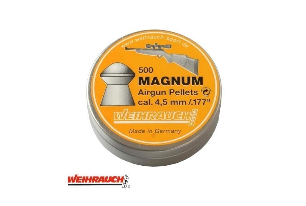 MUNITIONS WEIHRAUCH MAGNUM 4.50mm (.177) 500PCS