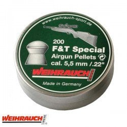 MUNITIONS WEIHRAUCH FIELD TARGET SPECIAL 5.50mm (.22) 200PCS