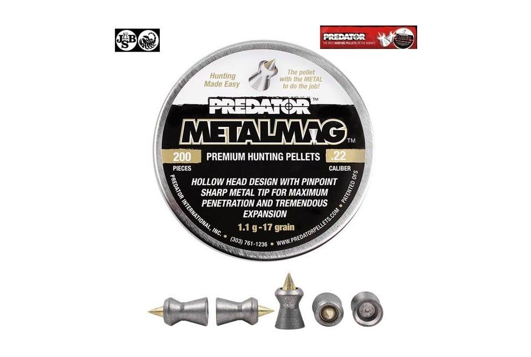 BALINES JSB PREDATOR METALMAG 200pcs 5.50mm (.22)