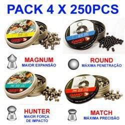 MUNITIONS GAMO PACK 4X250 PCS 4.5mm (.177)