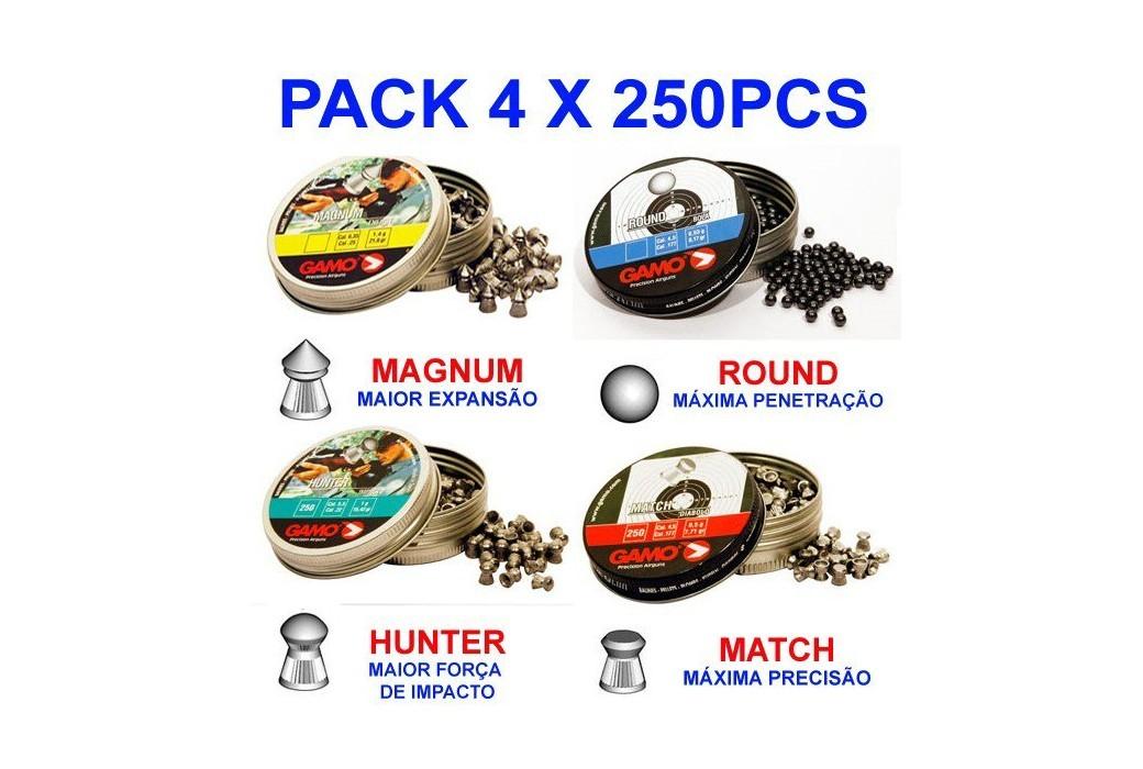 Gamo Pack 4x250 Pcs 4,5mm (.177)