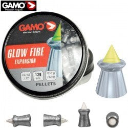 MUNITIONS GAMO GLOW FIRE ZOMBIE 125pcs 4.50mm (.177)