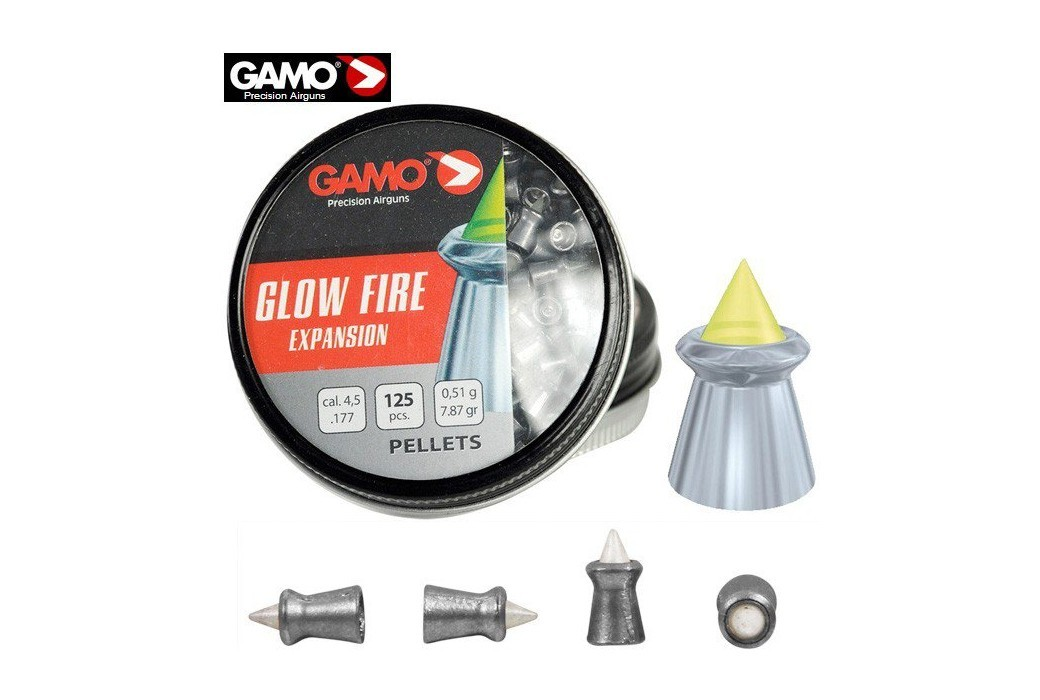 MUNITIONS GAMO GLOW FIRE ZOMBIE 125pcs 4.50mm (.177)