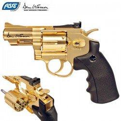 """REVOLVER ASG DAN WESSON 2.5"""" GOLD"""