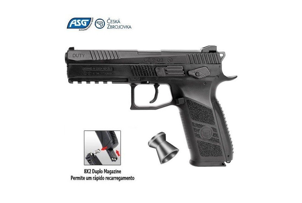 PISTOLA ASG CZ P-09 DUTY BLOWBACK