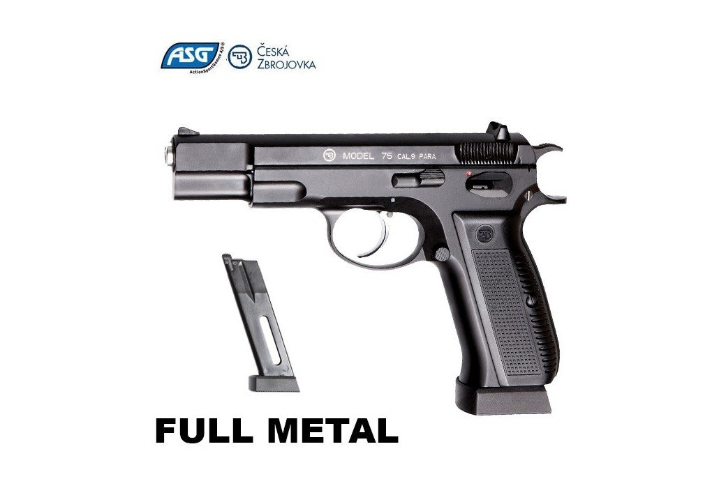 PISTOLA ASG CZ 75 BLOWBACK FULL METAL