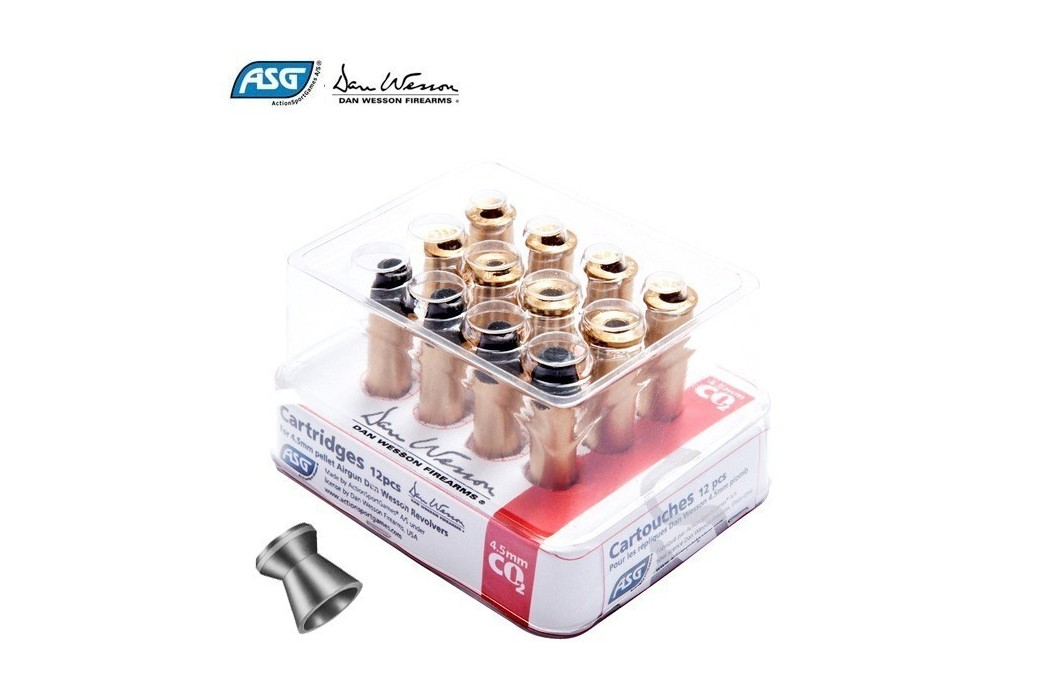 ASG DAN WESSON CARTRIDGE 12PCS PELLETS 4.50mm