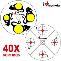COMETA CARTON CIBLES P/ CIBLE ROTATIVE 40 PCS