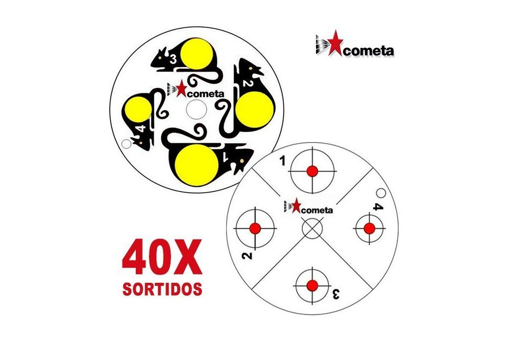 COMETA ALVOS P/ ALVO ROTATIVO 40 PCS