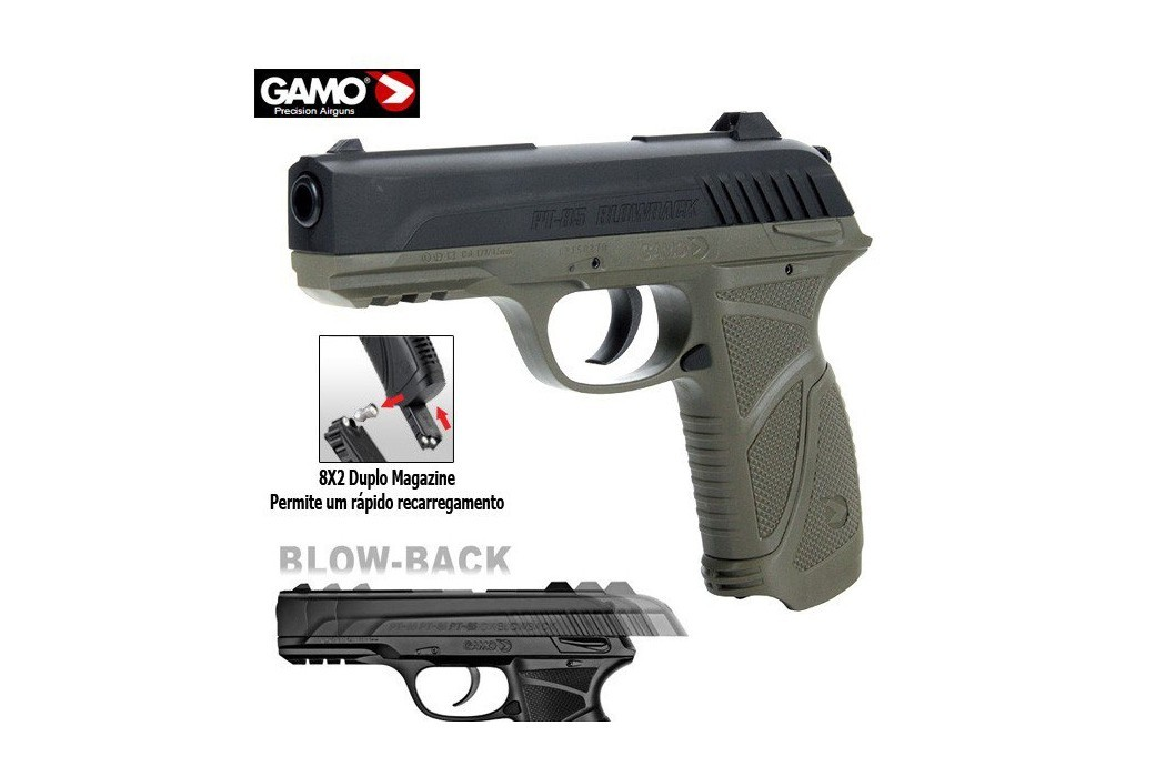 AIR PISTOL GAMO PT-85 OLIVE BLOWBACK
