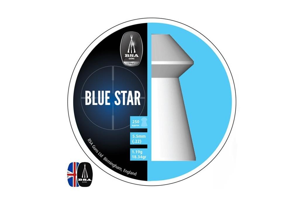 Air gun pellets BSA BLUE STAR 250 pcs 5.50mm (.22)