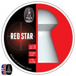 Air gun pellets BSA RED STAR 250 pcs 5.50mm (.22)