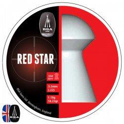 Air gun pellets BSA RED STAR 250 pcs 5.50mm (.22)