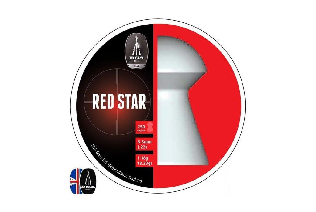 BALINES BSA RED STAR 250 pcs 5.50mm (.22)