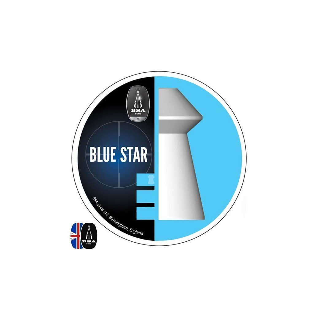 Air gun pellets BSA BLUE STAR 450 pcs 4.50mm (.177) Ammunition   Air ...