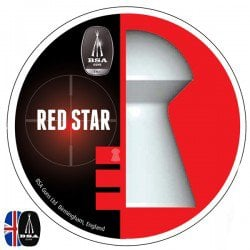 Air gun pellets BSA RED STAR 450 pcs 4.50mm (.177)
