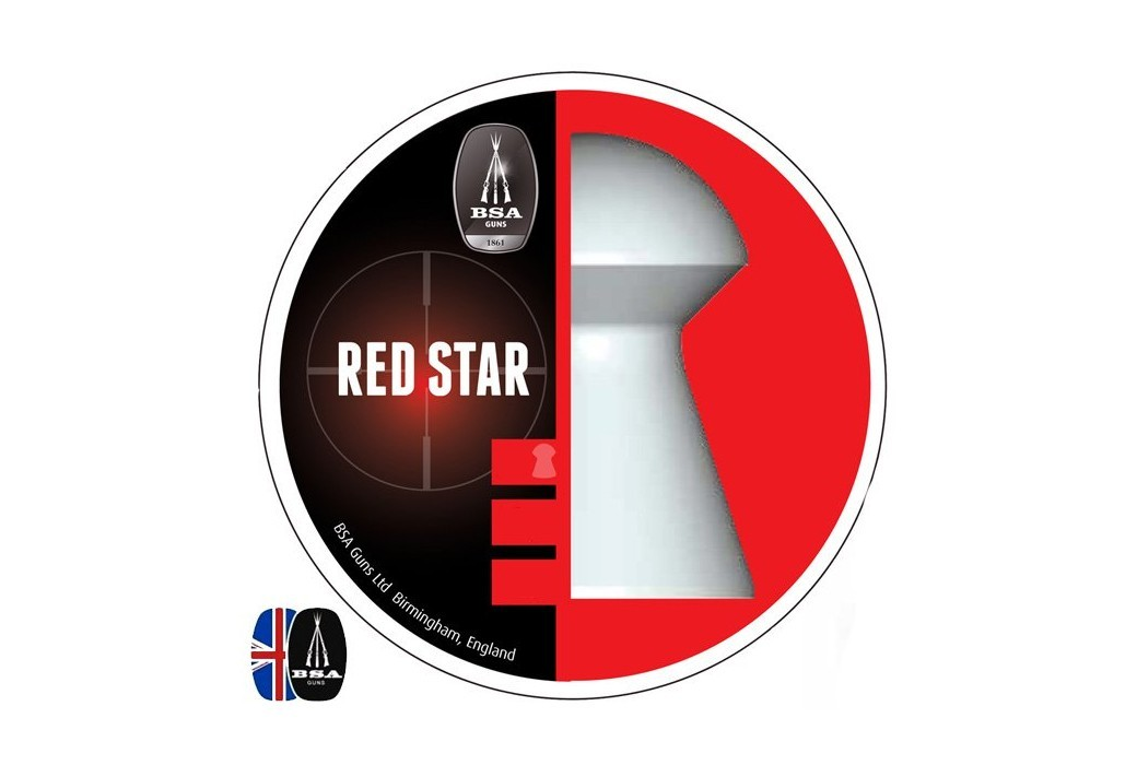 Air gun pellets BSA RED STAR 450 pcs 4.50mm (.177)